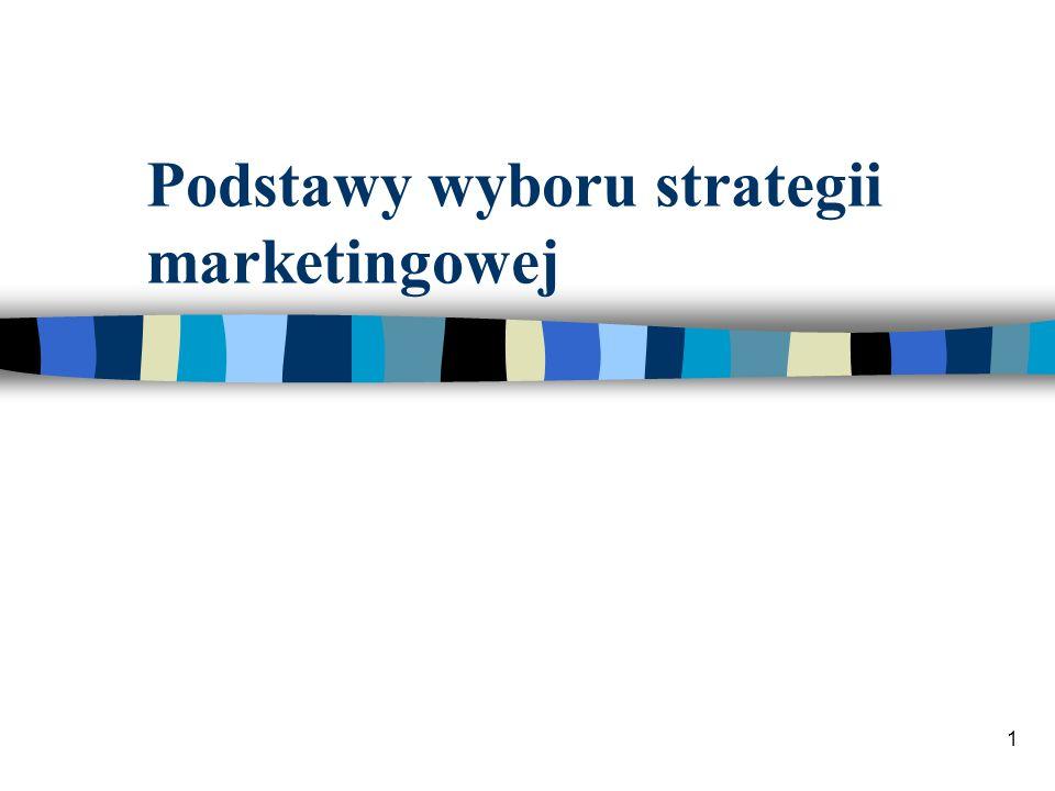 1 Podstawy wyboru strategii marketingowej