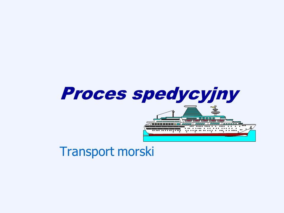 Regulacje prawne mające zastosowanie w transporcie morskim ustawa z 18 września 2001 Kodeks morski (ma zastosowanie, jeśli umowy międzynarodowe nie stanowią inaczej), reguły haskie z 1921 roku oraz opracowana na jej podstawie Konwencja brukselska (Konwencja międzynarodowa o ujednoliceniu niektórych zasad dotyczących konosamentów), Konwencja hamburska (reguły hamburskie) weszła w życie w 1992 roku, alternatywa dla Konwencji brukselskiej, Konwencja Genewska z 1980 roku (Konwencja ONZ o międzynarodowym multimodalnym przewozie towarów), Reguły Yorku i Antwerpii, określające zasady tak zwanej awarii wspólnej i sposobu jej rozliczania, Jednolite Zasady i Szanse Akredytyw Dokumentowych (Uniform Customs and Practices for Documentary Credits) opracowane przez Międzynarodową Izbę Handlową w Paryżu, INCOTERMS, Amerykańskie Znowelizowane Definicje Handlu Zagranicznego (American Revised Foreign Trade Devinitions) – amerykańskie INCOTERMS.