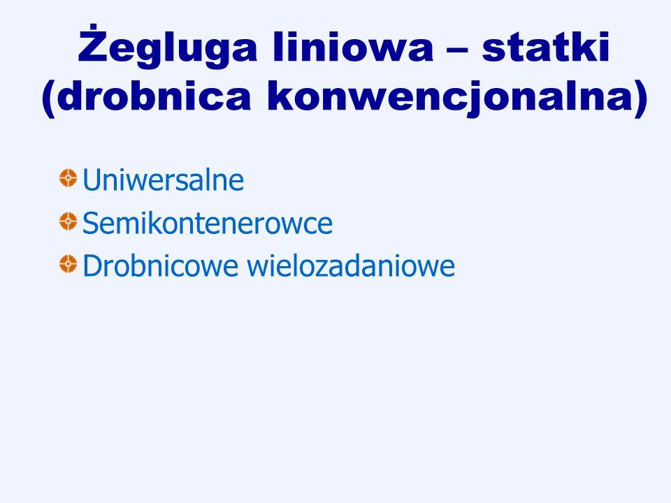 Żegluga liniowa – statki (drobnica konwencjonalna) Uniwersalne Semikontenerowce Drobnicowe wielozadaniowe