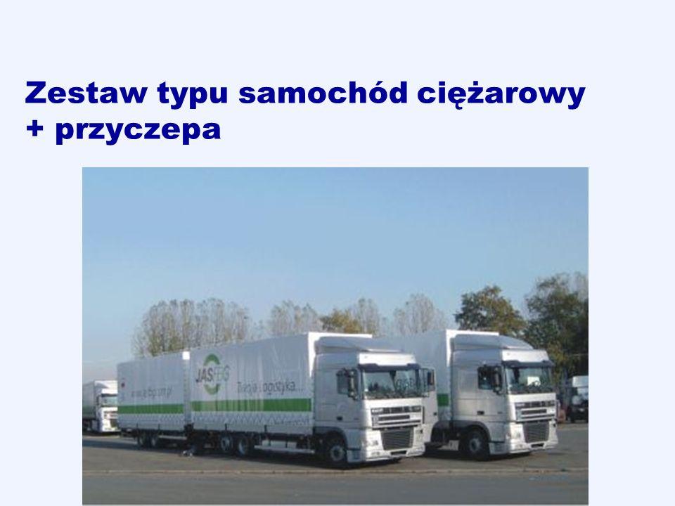 Zestaw typu samochód ciężarowy + przyczepa