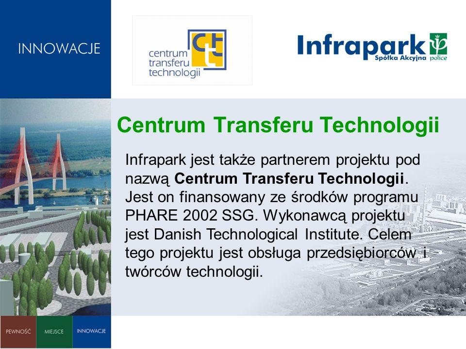 Centrum Transferu Technologii Infrapark jest także partnerem projektu pod nazwą Centrum Transferu Technologii. Jest on finansowany ze środków programu
