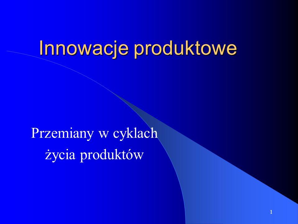 1 Innowacje produktowe Przemiany w cyklach życia produktów