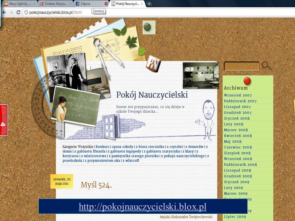 20 http://pokojnauczycielski.blox.pl