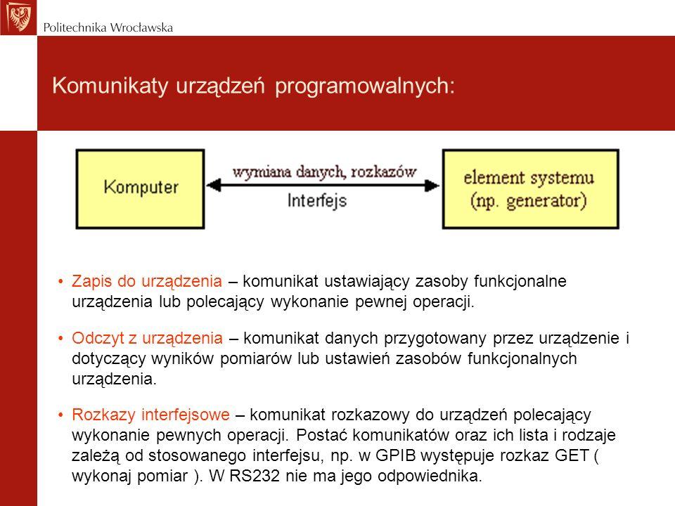 Programowanie rejestrowe i tekstowe urządzeń.