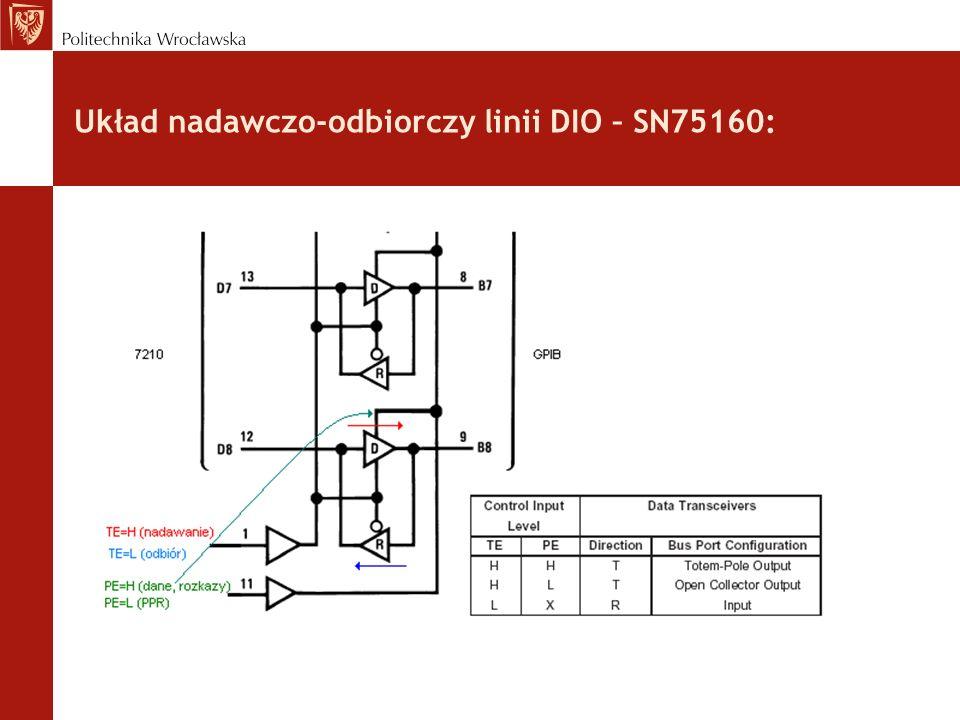 Układ nadawczo-odbiorczy linii DIO – SN75160: