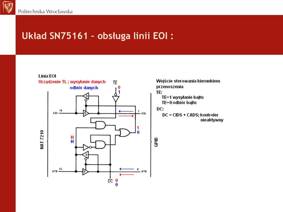 Układ SN75161 – obsługa linii EOI :