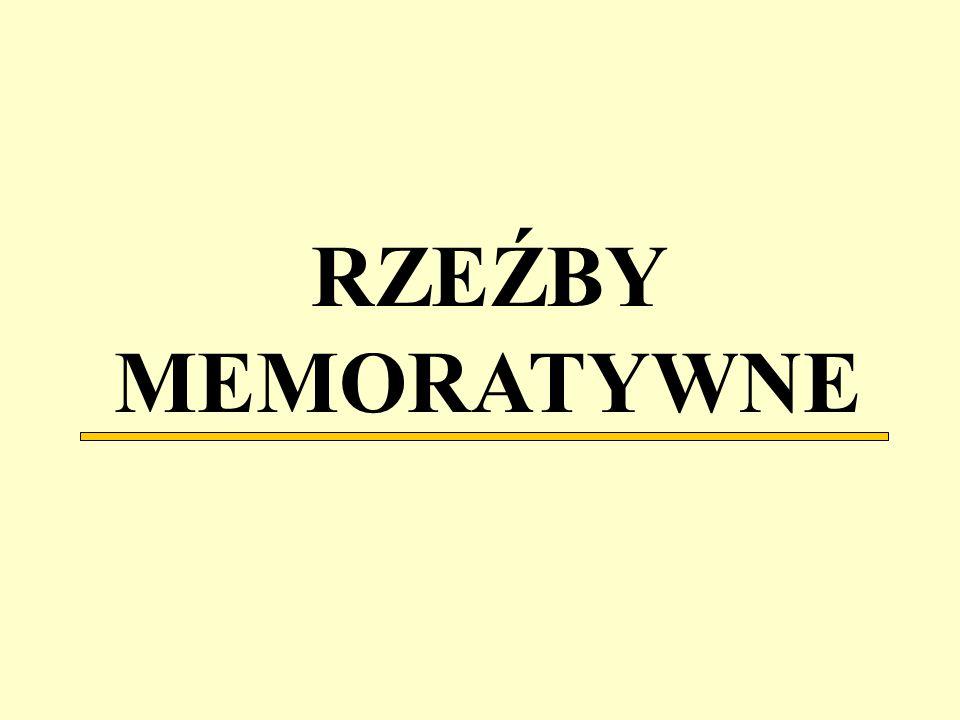 RZEŹBY MEMORATYWNE