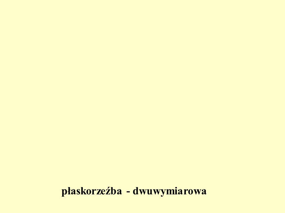płaskorzeźba - dwuwymiarowa