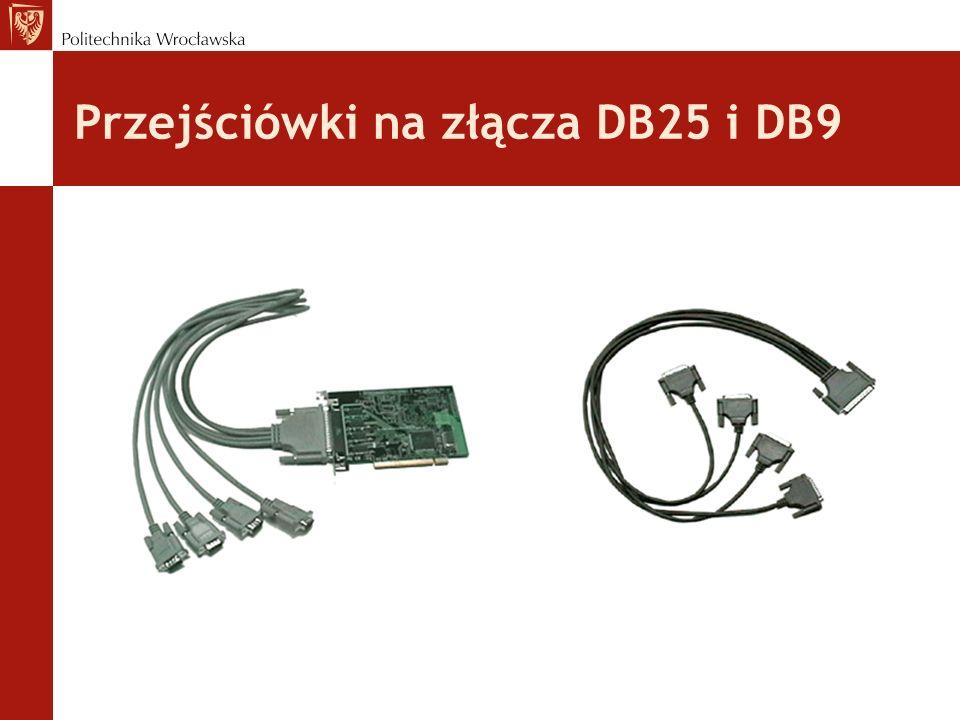 Przejściówki na złącza DB25 i DB9