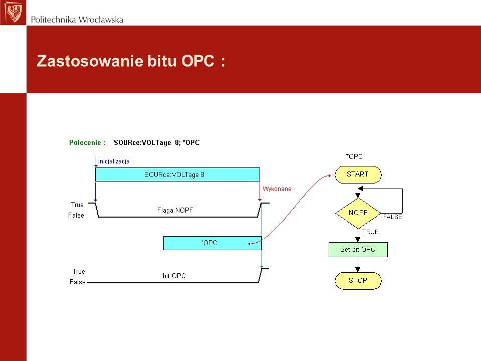 Zastosowanie bitu OPC :