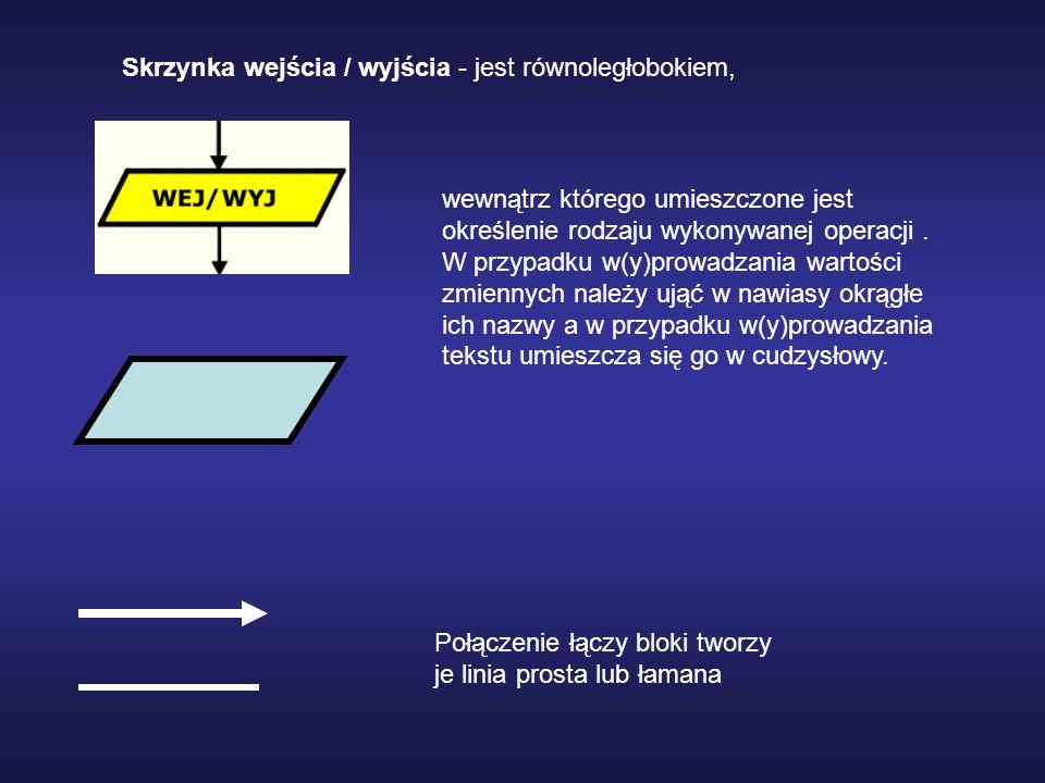 Skrzynka łącznikowa - ma kształt okręgu może być używana do oznaczenia miejsc w schemacie, które mają być traktowane jako jedne i te same.