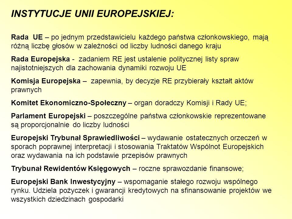 JEDNOLITY AKT EUROPEJSKI Zmiany w rozumieniu integracji – utworzenie rynku wewnętrznego do 31.12.1992r.; - przyjęcie zasad współpracy w sprawach bezpieczeństwa; - umocnienie Europejskiego Systemu Walutowego; Raport Cecchiniego – wprowadzenie Zharmonizowanego Systemu Oznaczania i Kodowania Towarów – nowej taryfy celnej Wspólnot Europejskich (TARIC) oraz jednolitego dokumentu administracyjnego przy przewożeniu towarów przez granicę (SAD); Zamówienia publiczne – m.in..