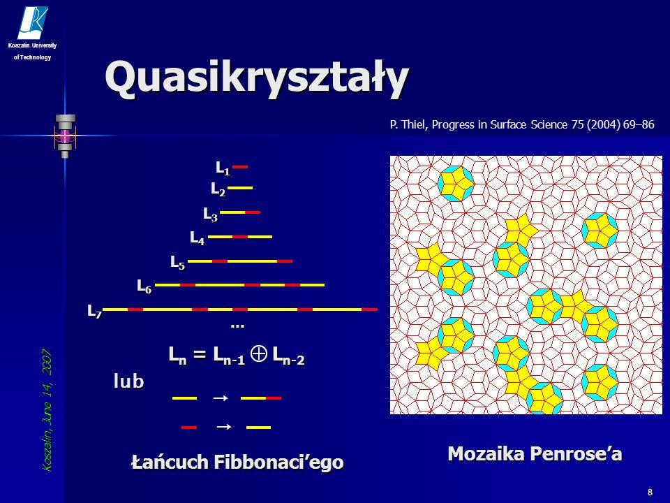 Koszalin, June 14, 2007 Koszalin University of Technology 9 Quasikryształy i-Y-Mg-Zn (TEM) P.