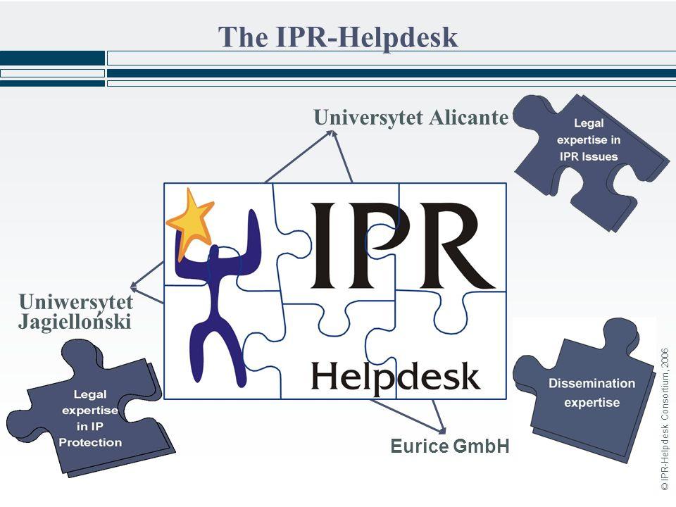 © IPR-Helpdesk Consortium, 2006 The IPR-Helpdesk Eurice GmbH Uniwersytet Jagielloński Universytet Alicante