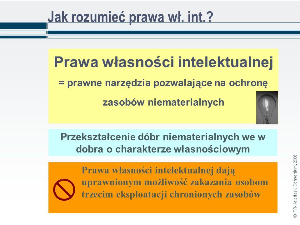 © IPR-Helpdesk Consortium, 2006 Jak rozumieć prawa wł.