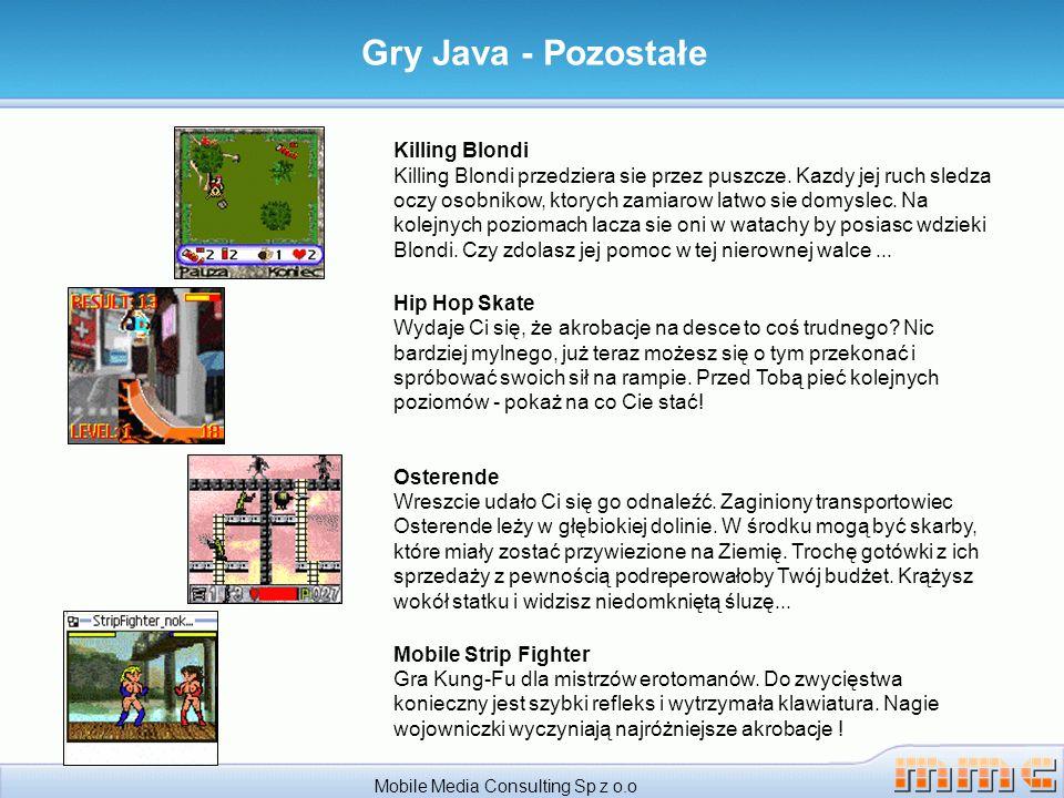 Mobile Media Consulting Sp z o.o Gry Java - Pozostałe Killing Blondi Killing Blondi przedziera sie przez puszcze.