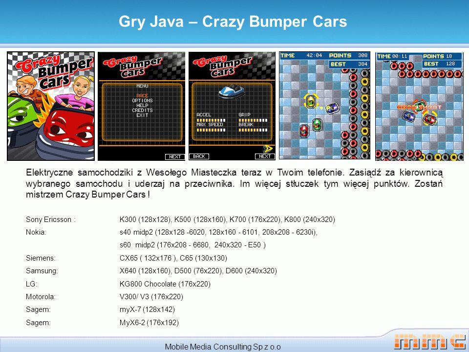Mobile Media Consulting Sp z o.o Gry Java – Crazy Bumper Cars Elektryczne samochodziki z Wesołego Miasteczka teraz w Twoim telefonie.