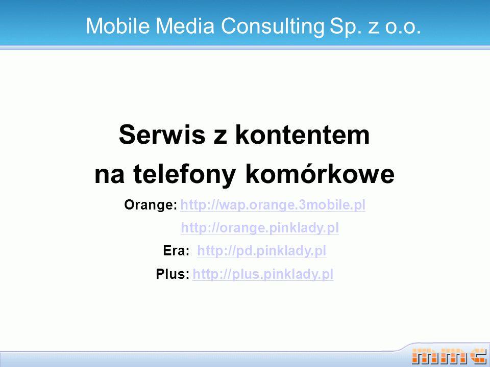 Serwis z kontentem – Strona główna Mobile Media Consulting Sp z o.o