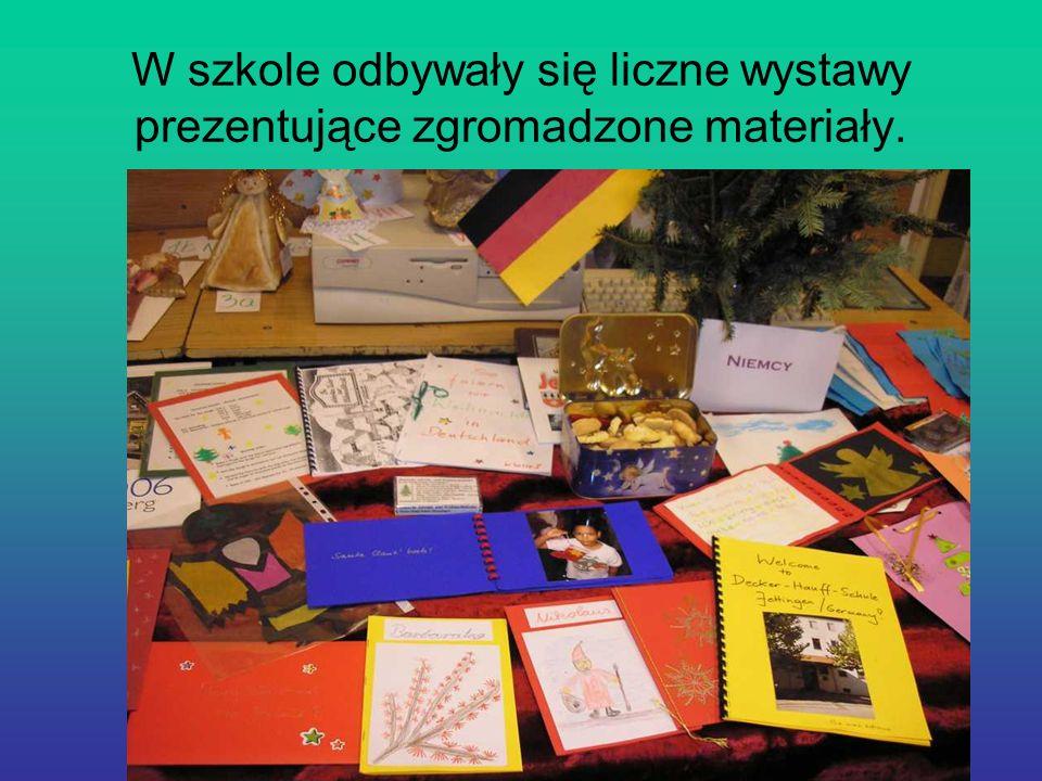 W szkole odbywały się liczne wystawy prezentujące zgromadzone materiały.