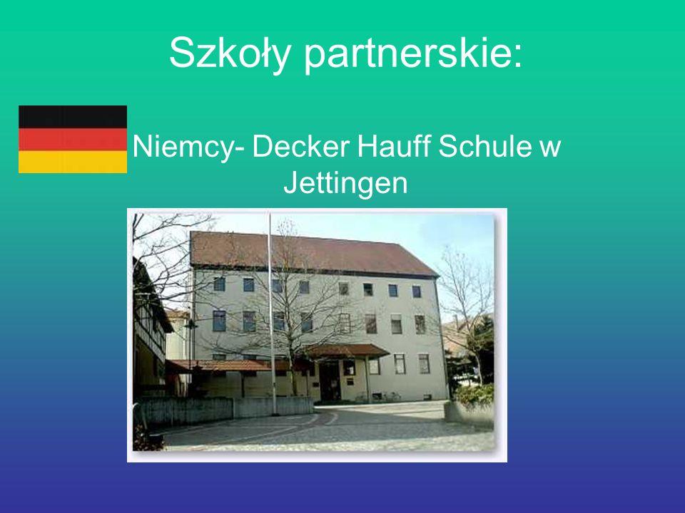 Szkoły partnerskie: Niemcy- Decker Hauff Schule w Jettingen