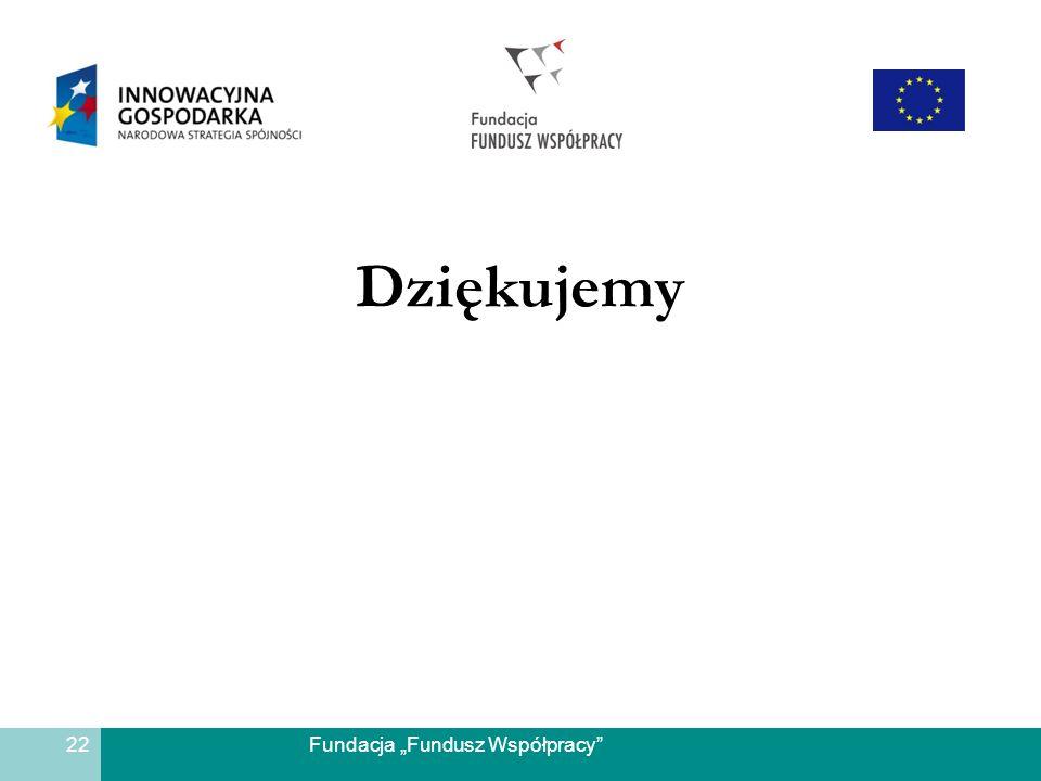 Fundacja Fundusz Współpracy Dziękujemy 22