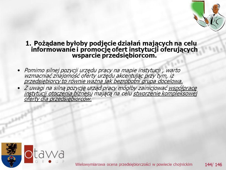 Wielowymiarowa ocena przedsiębiorczości w powiecie chojnickim 144/ 146 1.