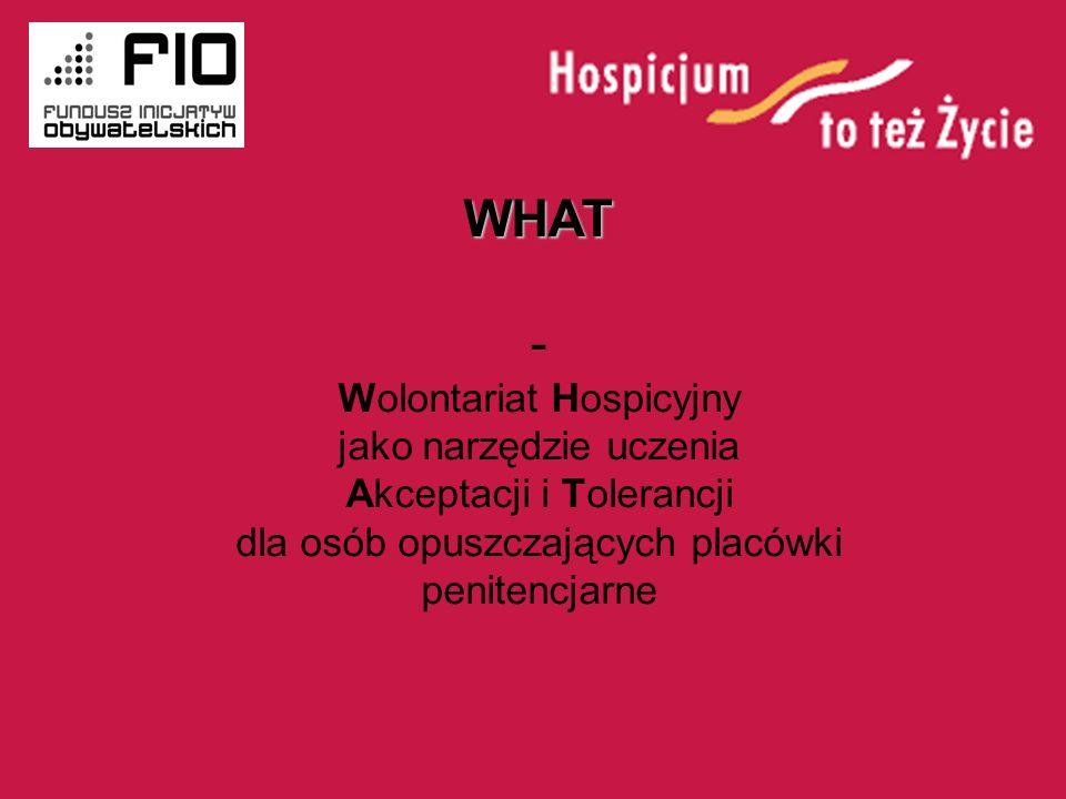WHAT WHAT - Wolontariat Hospicyjny jako narzędzie uczenia Akceptacji i Tolerancji dla osób opuszczających placówki penitencjarne