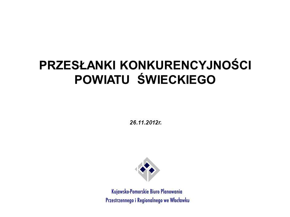Stopa bezrobocia (%) Źródło: Opracowanie własne na podstawie Bank Danych Lokalnych, stan na 2010 r.