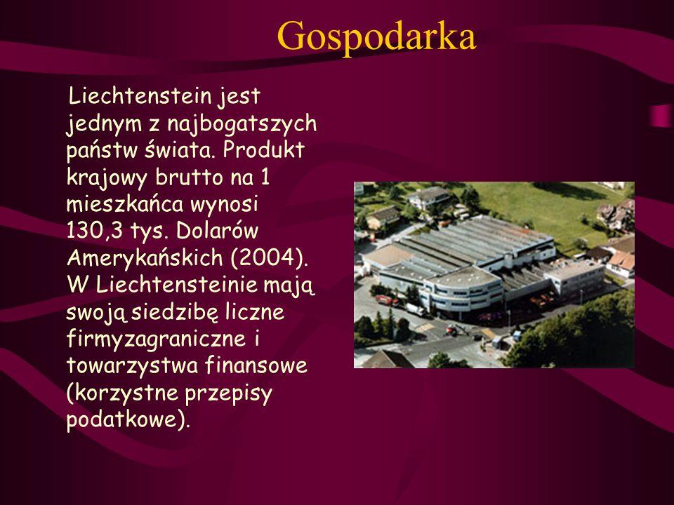 Gospodarka Liechtenstein jest jednym z najbogatszych państw świata. Produkt krajowy brutto na 1 mieszkańca wynosi 130,3 tys. Dolarów Amerykańskich (20