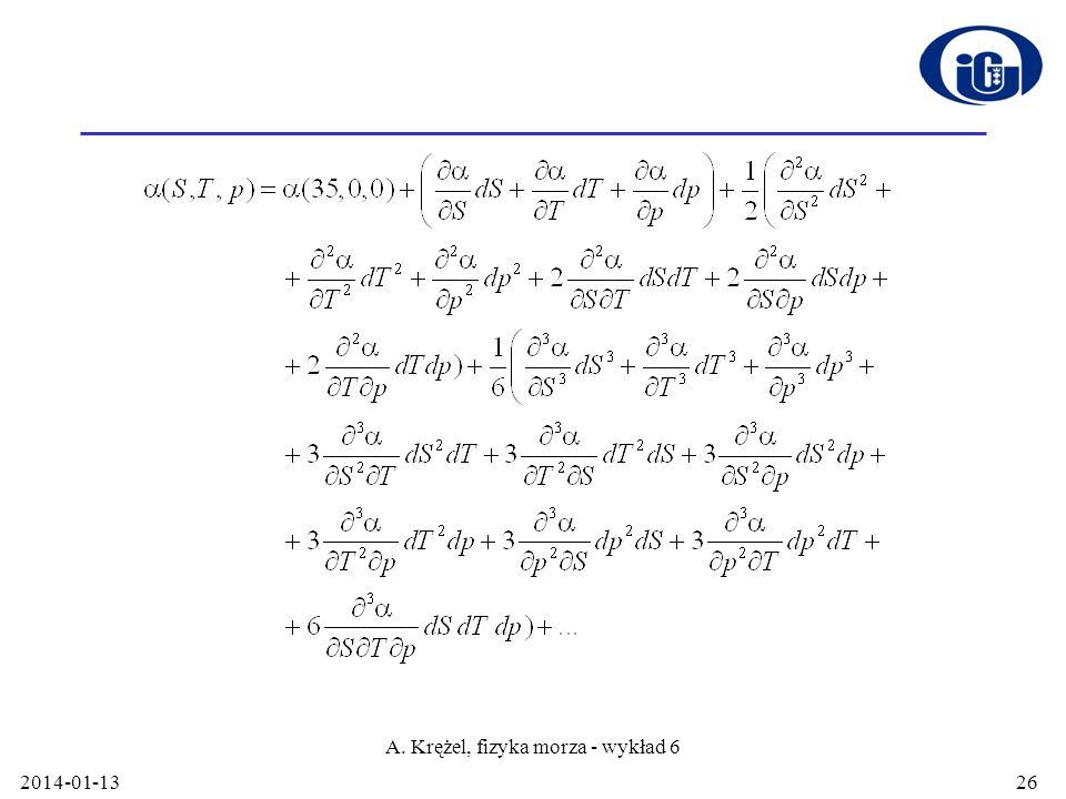 2014-01-13 A. Krężel, fizyka morza - wykład 6 26