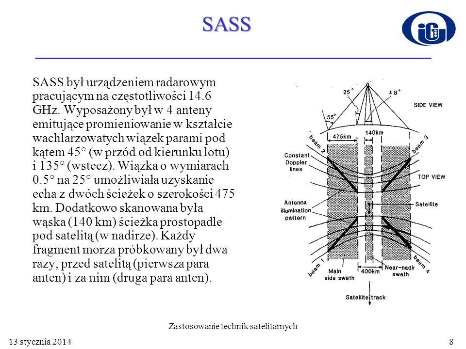 SASS SASS był urządzeniem radarowym pracującym na częstotliwości 14.6 GHz. Wyposażony był w 4 anteny emitujące promieniowanie w kształcie wachlarzowat