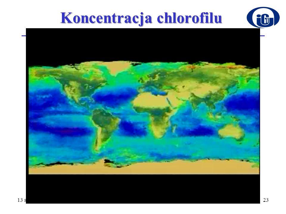 Koncentracja chlorofilu 13 stycznia 201423