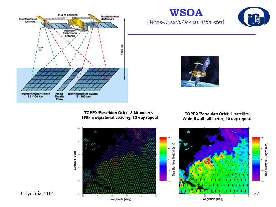 WSOA ( Wide-Swath Ocean Altimeter ) 13 stycznia 201422