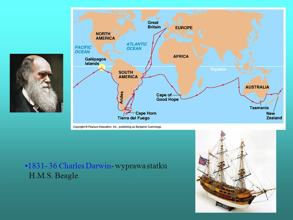 1831- 36 Charles Darwin- wyprawa statku H.M.S. Beagle