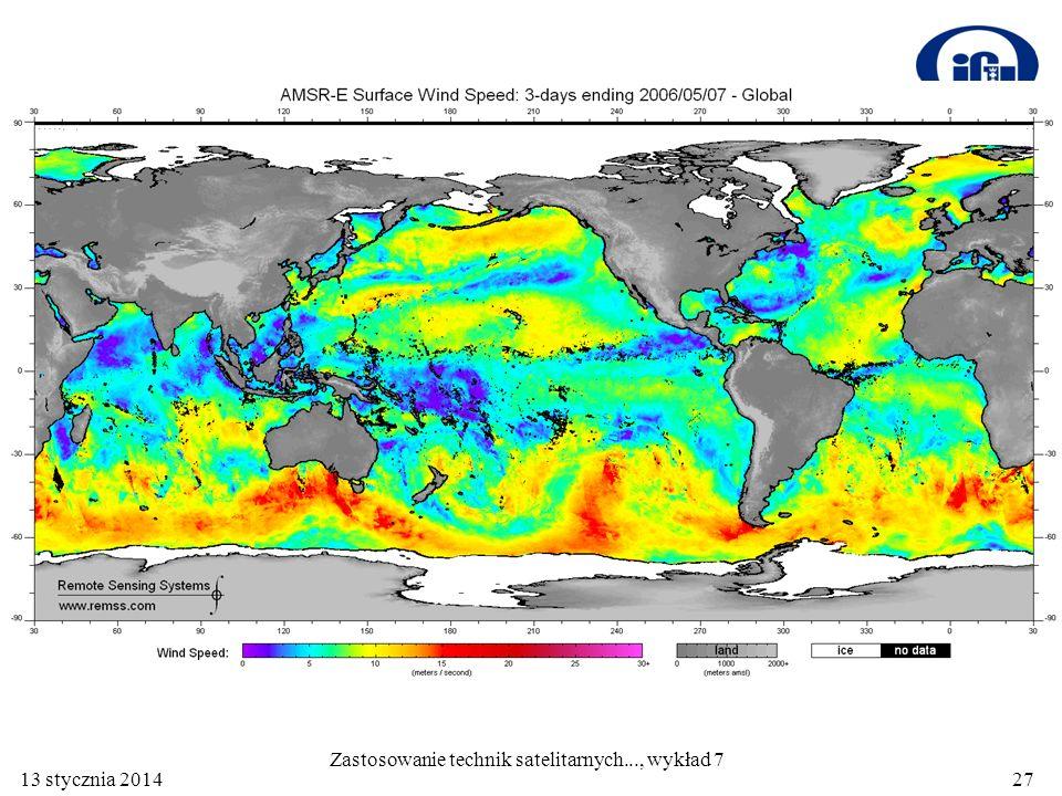 13 stycznia 201427 Zastosowanie technik satelitarnych..., wykład 7