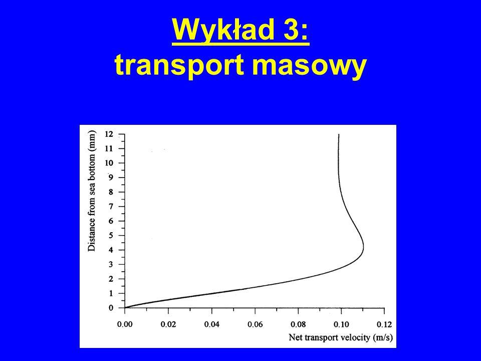 Wykład 3: transport masowy