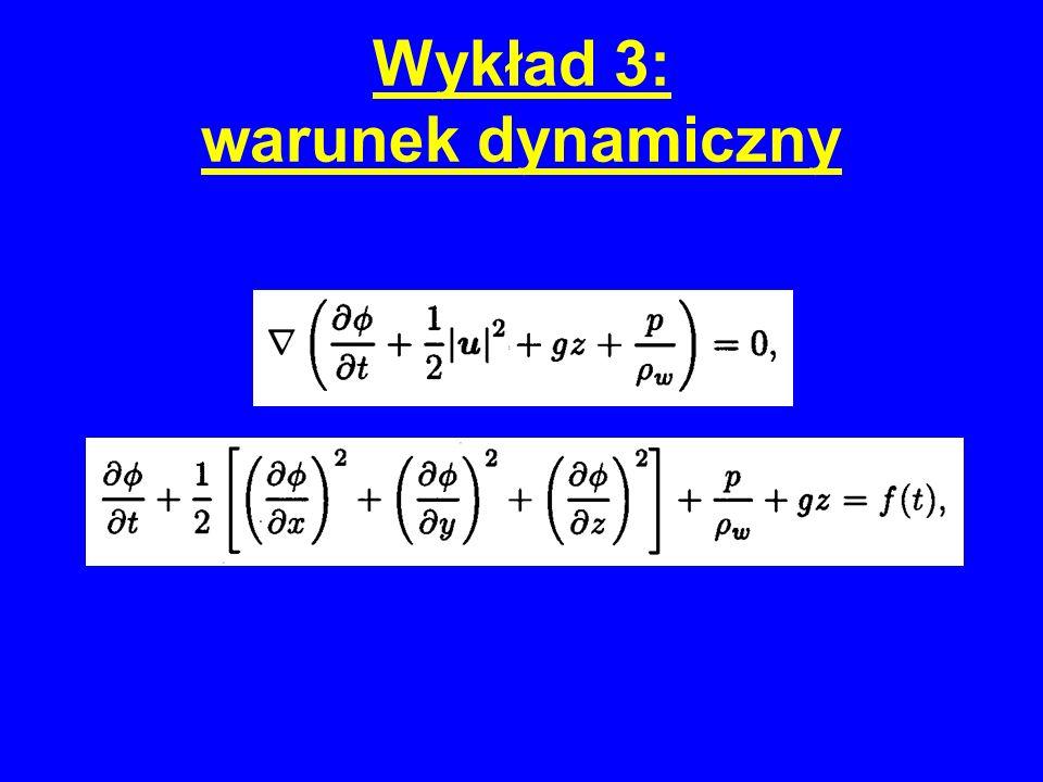 Wykład 3: nieliniowe rozwiązanie dla fal Stokesa