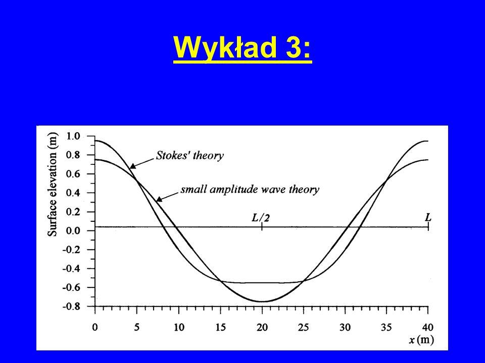 Wykład 3: rozwiązanie dla wody głębokiej