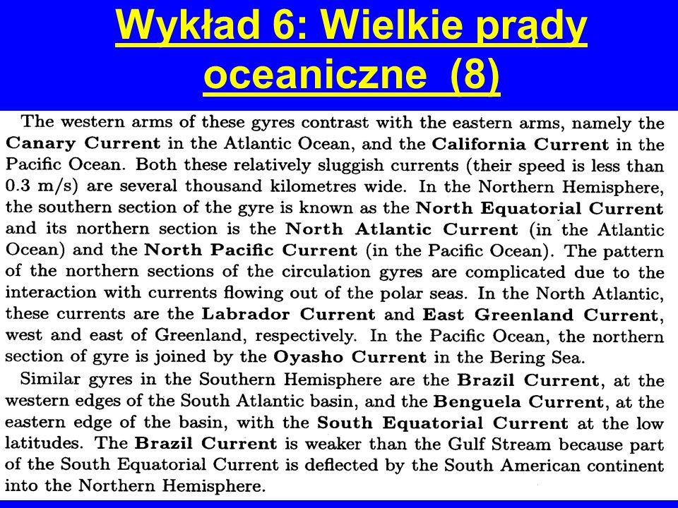 Wykład 6: Wielkie prądy oceaniczne (8)