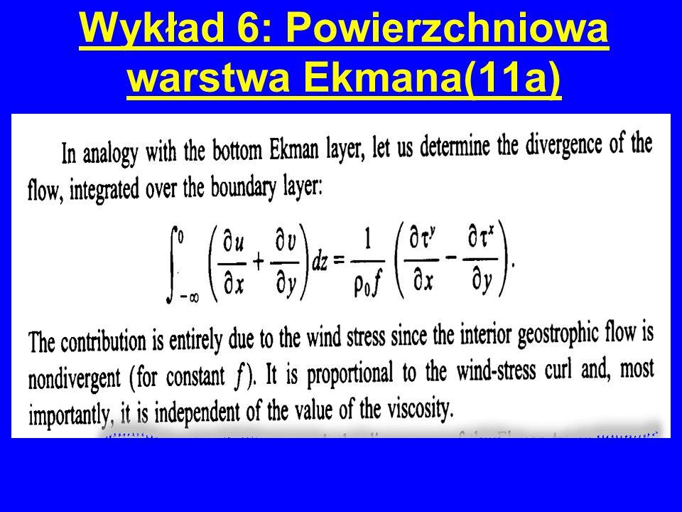 Wykład 6: Powierzchniowa warstwa Ekmana(11a)