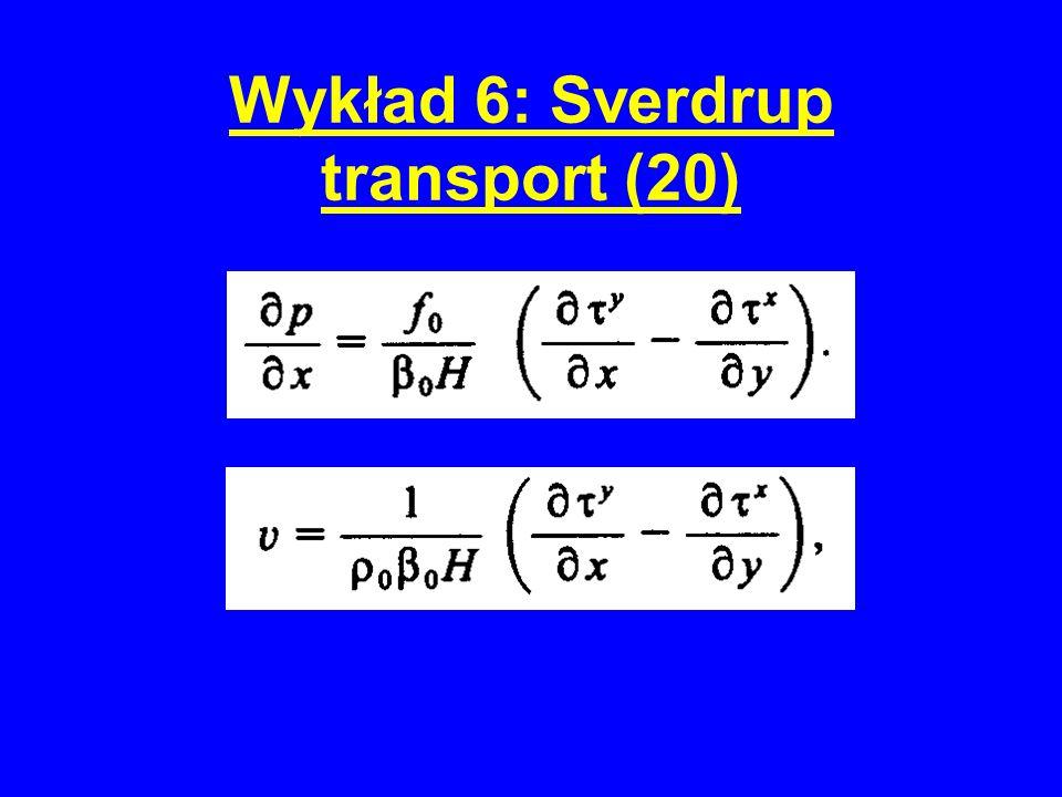 Wykład 6: Sverdrup transport (20)