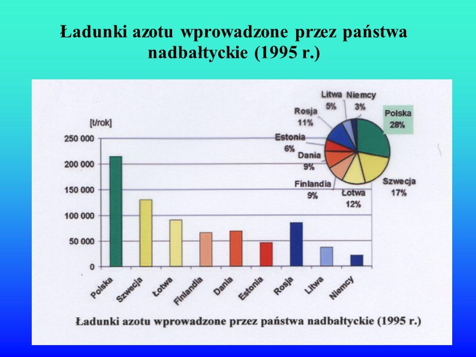 Ładunki azotu wprowadzone przez państwa nadbałtyckie (1995 r.)