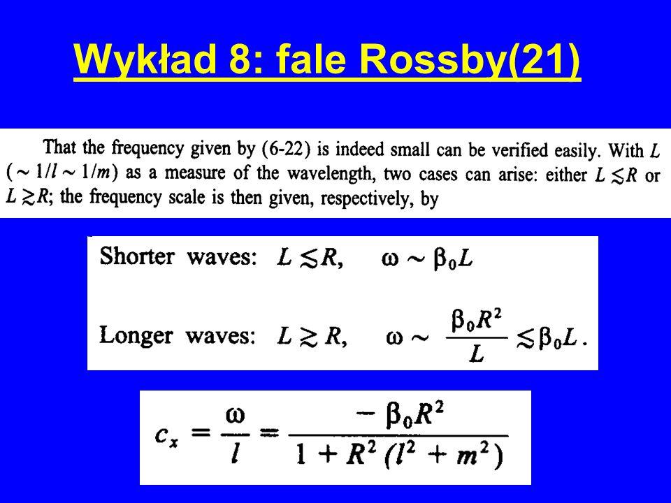 Wykład 8: fale Rossby(21)