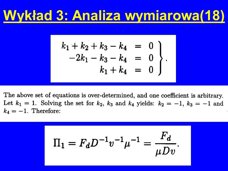 Wykład 3: Analiza wymiarowa(18)