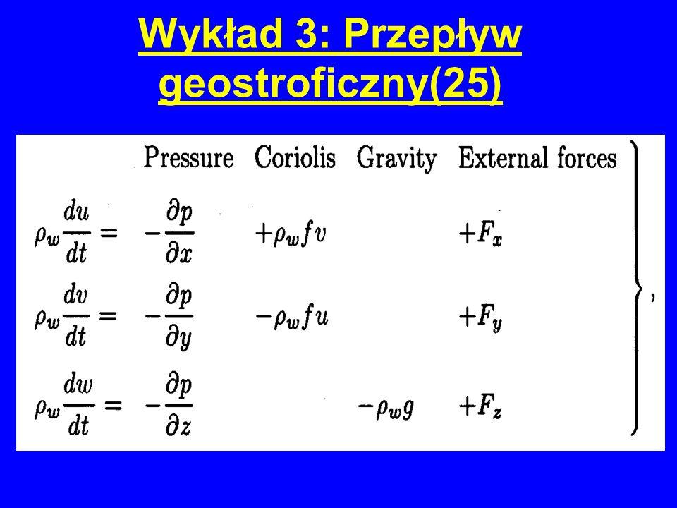 Wykład 3: Przepływ geostroficzny(25)