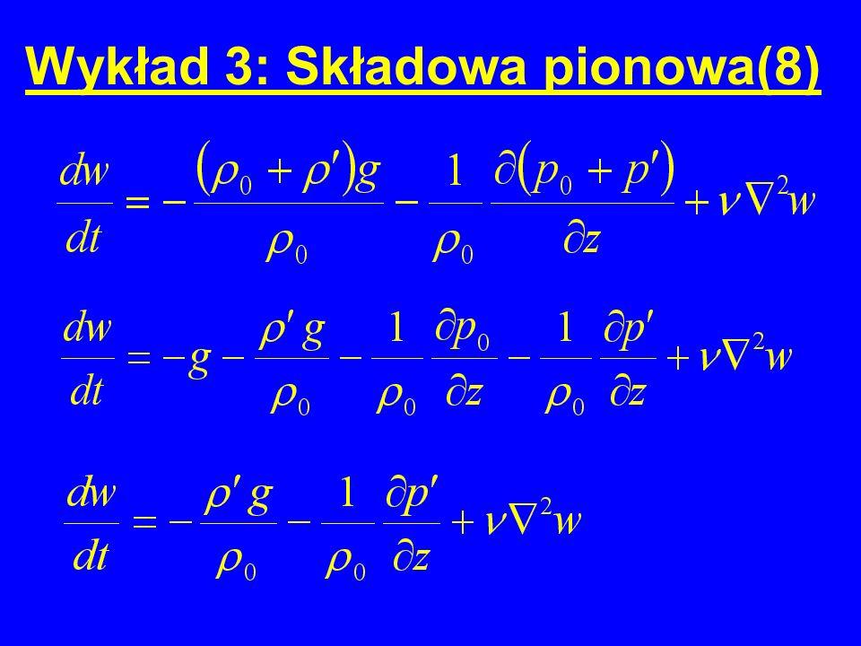 Wykład 3: Spirala Ekmana: prędkość u i v (29)