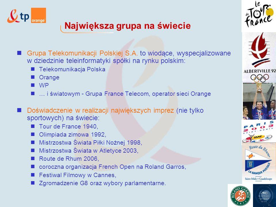 Największa grupa na świecie Grupa Telekomunikacji Polskiej S.A.