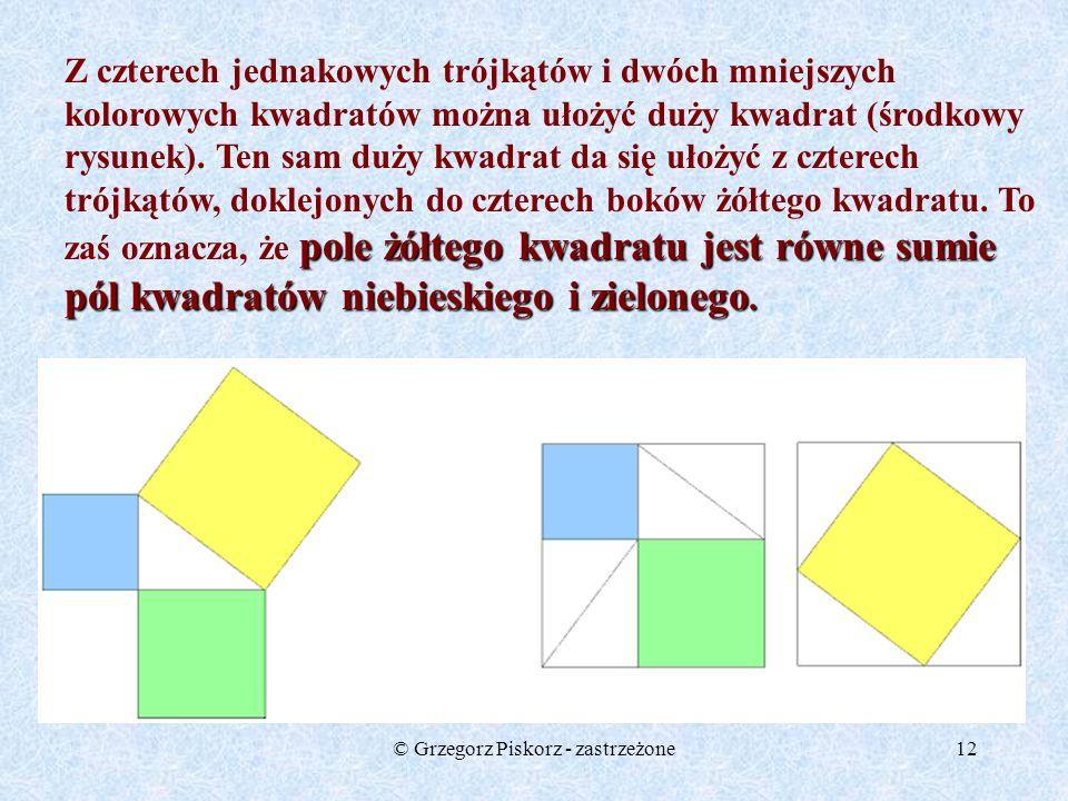 © Grzegorz Piskorz - zastrzeżone11 trójkąt pitagorejski