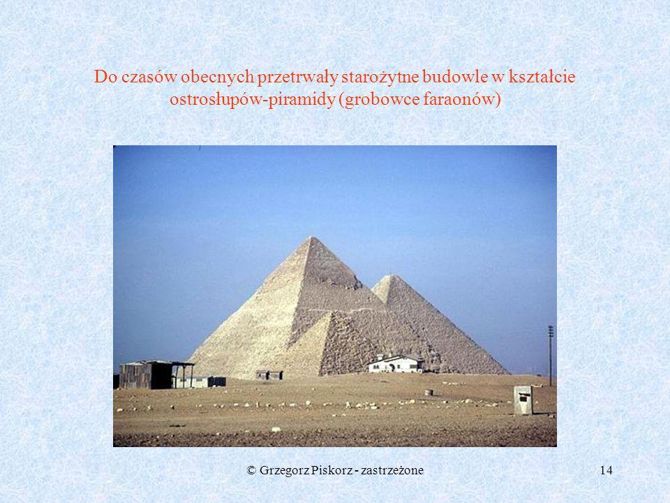 © Grzegorz Piskorz - zastrzeżone13 trójkąt o bokach 3,4,5 uważany był w Starożytności za figurę magiczną: obwód jego=12, pole zaś równa się 6,a więc l