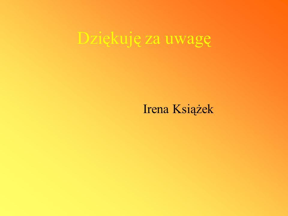 Dziękuję za uwagę Irena Książek